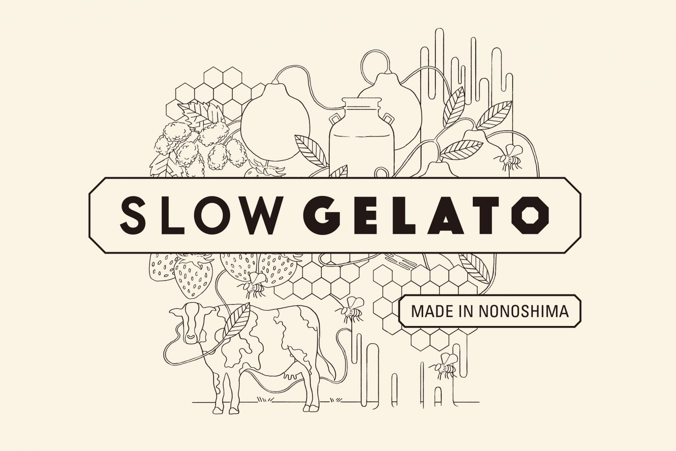 slow gelato made in nonoshimaのイメージ